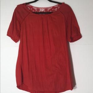 French Laundry small red lace back